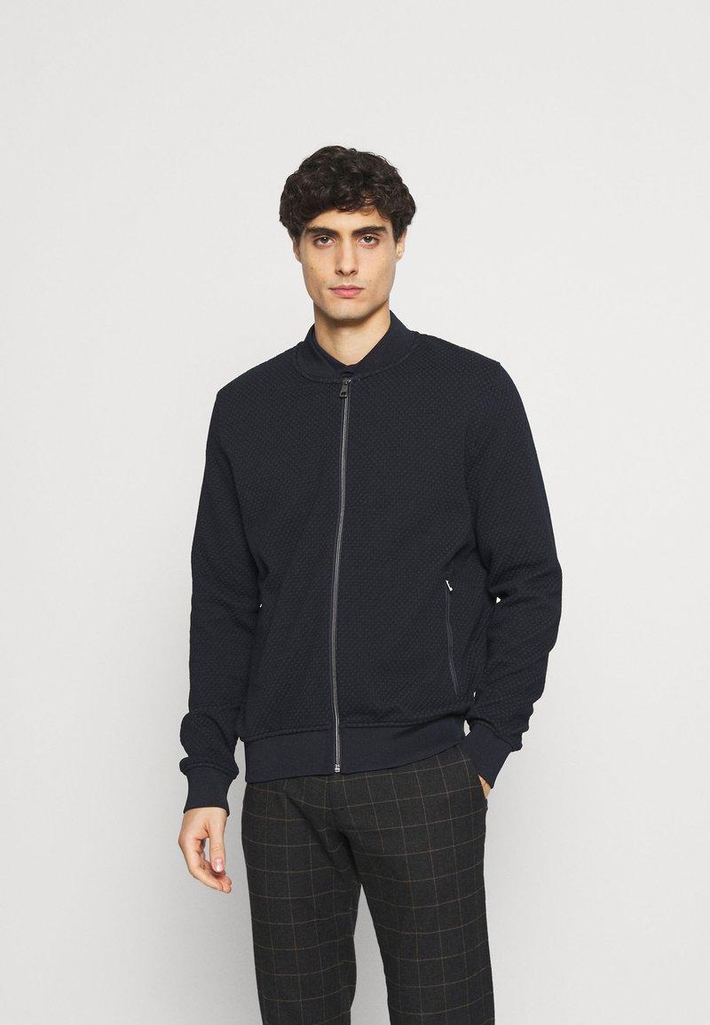 Bugatti - JACKET - Zip-up hoodie - navy