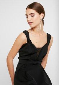 WAL G. - SHOULDER LAYERED MIDI DRESS - Vestito elegante - black - 3