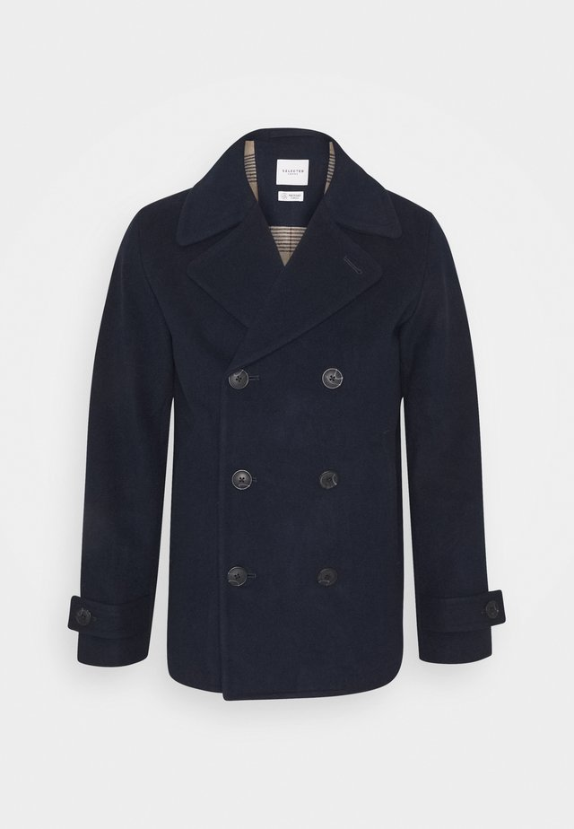 SLHSUSTAINABLE ICONICS PEACOAT  - Villakangastakki - sky captain