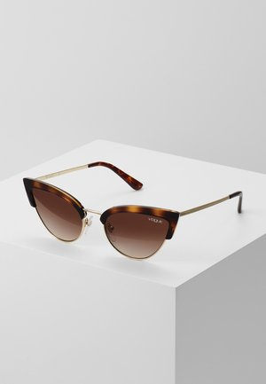 Sunglasses - havana/pale gold-coloured