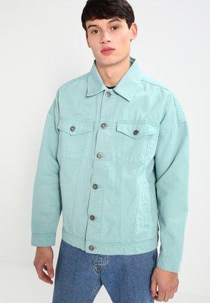 OVERSIZE FIT - Denim jacket - mint blue