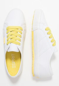Esprit - ITALIA LACE UP - Trainers - bright yellow - 3