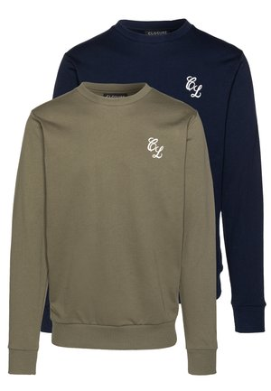 CREWNECK 2 PACK - Sweater - khaki/navy