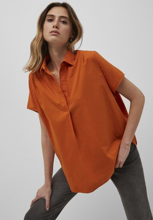 Button-down blouse - copper sunset