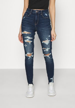 CURVY HI RISE DREAM - Jeans slim fit - destroyed dark