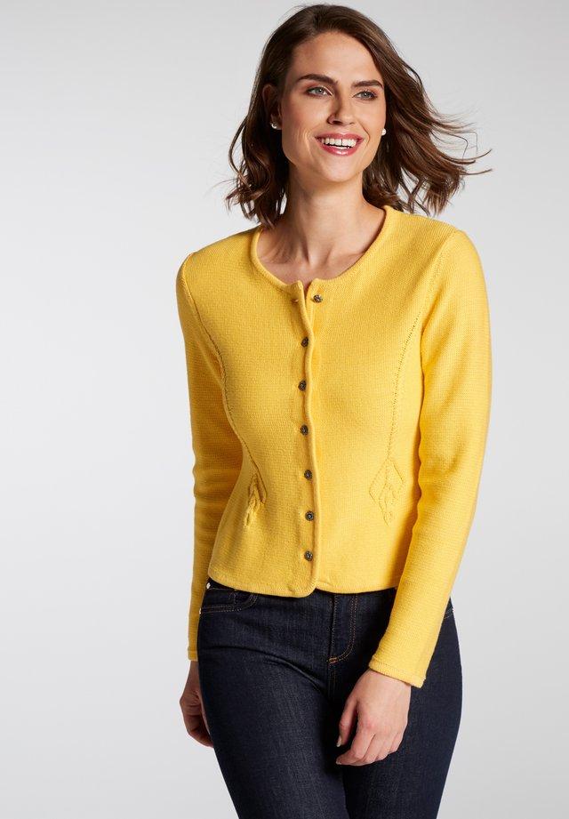PERLA - Strickjacke - gelb