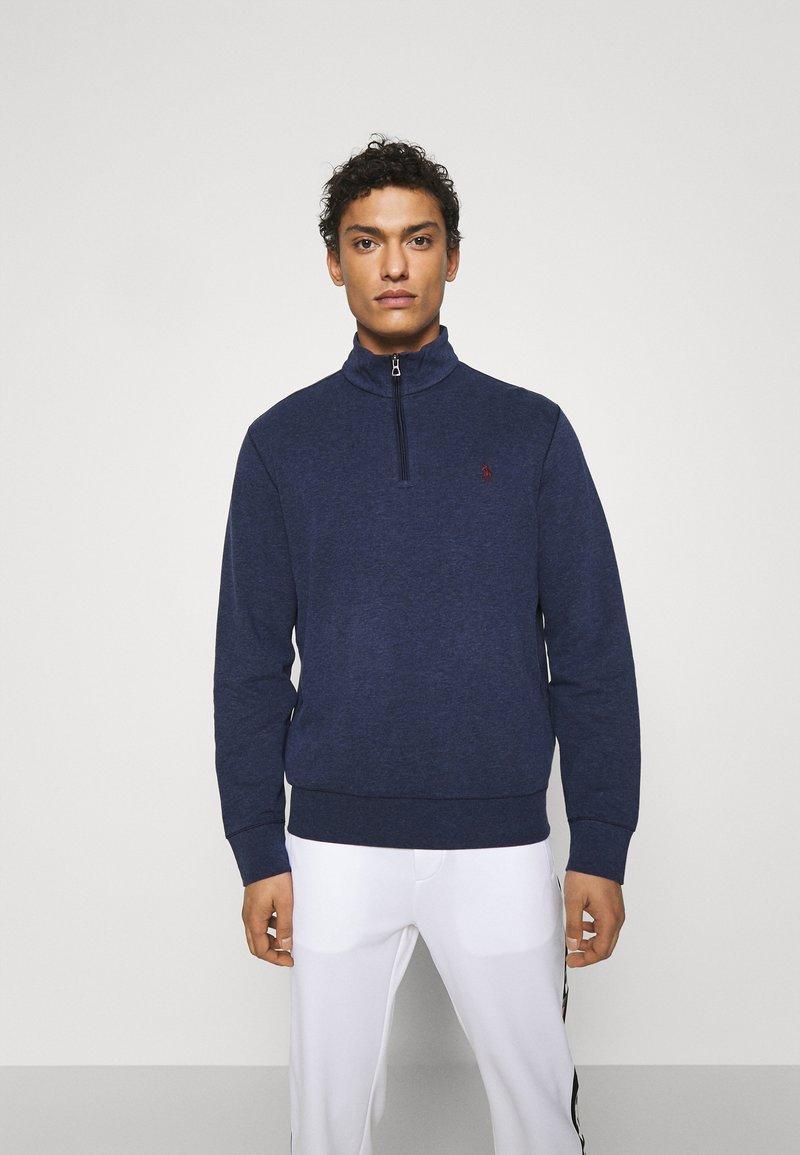 Polo Ralph Lauren - JERSEY QUARTER-ZIP PULLOVER - Sweatshirt - spring navy heather