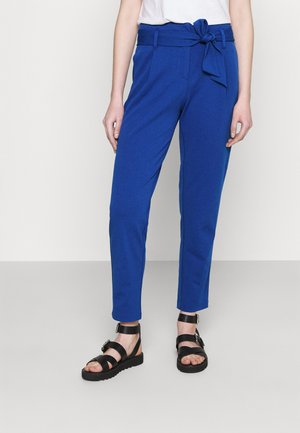 ONLCAROLINA BELT PANTS - Trousers - mazarine blue