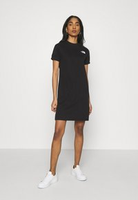 The North Face - TEE DRESS - Jerseykjole - black - 0