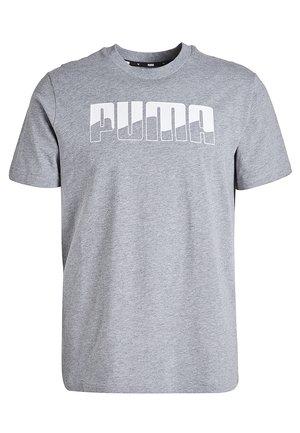 REBEL - Print T-shirt - medium gray heather