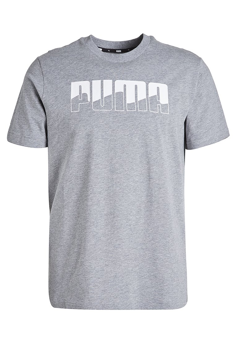Puma - REBEL - T-shirt con stampa - medium gray heather