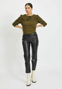 Vila - Leather trousers - black - 1