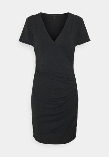 MEGAN DRESS - Jersey dress - jet black