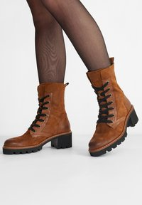 Paul Green - Lace-up ankle boots - cognac-braun 007 - 0
