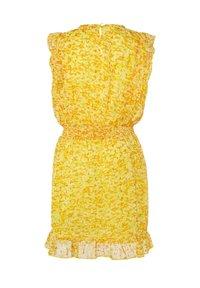 WE Fashion - WE FASHION MEISJES JURK MET GLITTERDETAILS - Vestido informal - yellow - 3