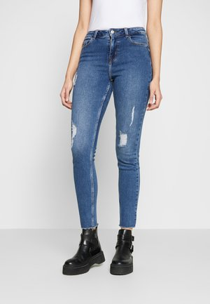 PCKAMELIA DESTROY - Skinny džíny - medium blue denim