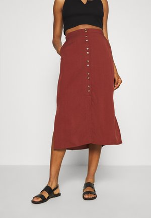 VMHAFIA SKIRT - A-line skirt - dark red