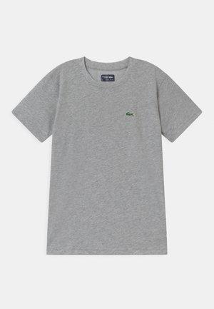 LOGO UNISEX - Jednoduché triko - silver
