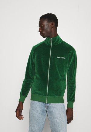 TRACK JACKET UNISEX - Sweater met rits - dark green