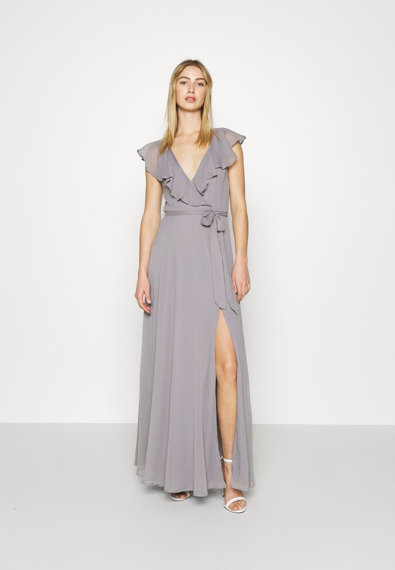 Nly by Nelly - DASHING FLOUNCE GOWN - Occasion wear - light grey