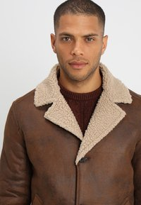 Pier One - Faux leather jacket - brown - 4