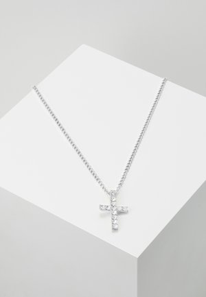 CROSS NECKLACE - Naszyjnik - silver-coloured
