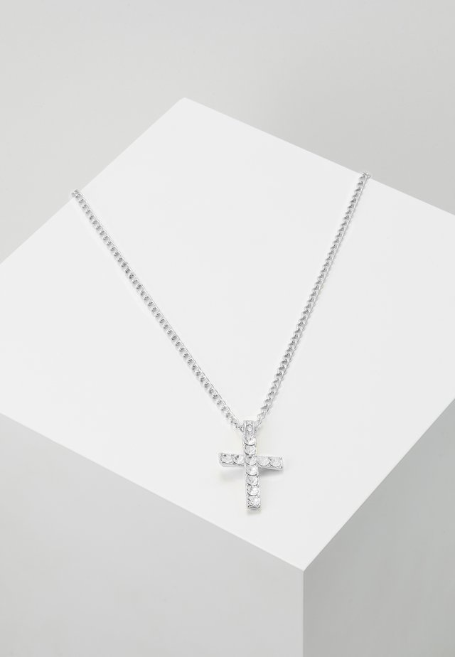 CROSS NECKLACE - Necklace - silver-coloured