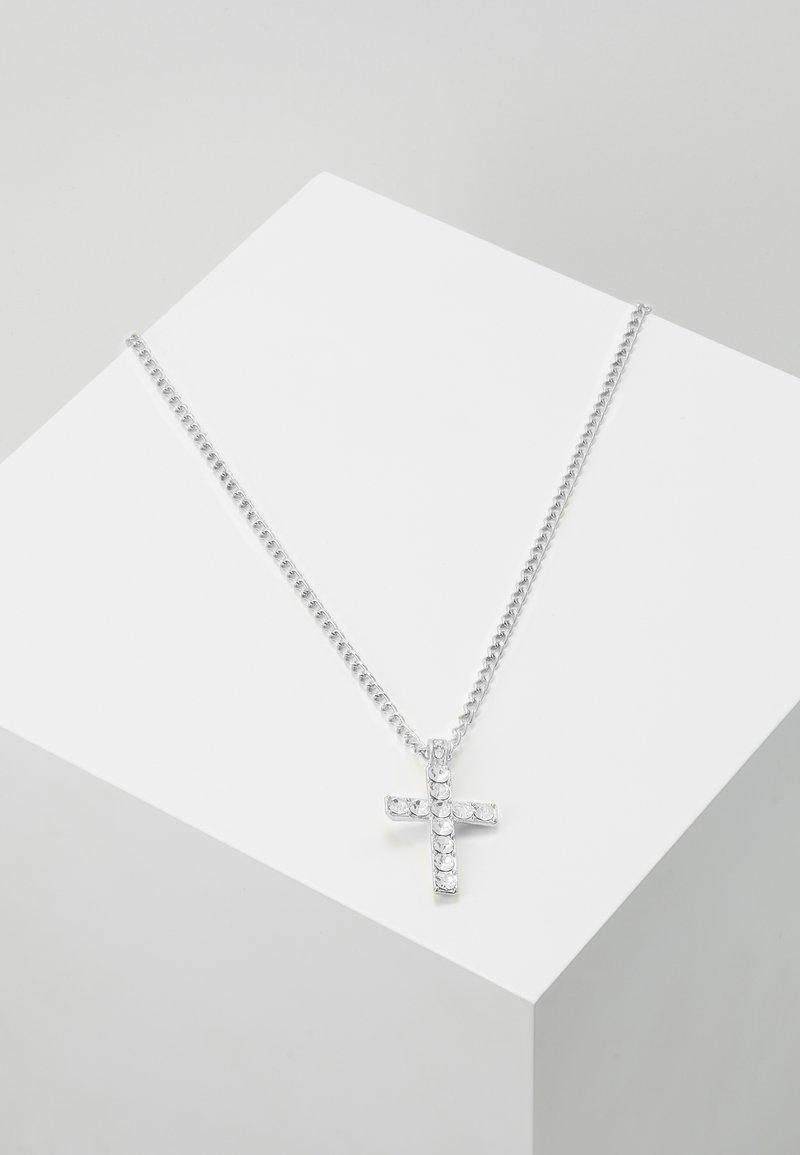 Urban Classics - CROSS NECKLACE - Necklace - silver-coloured