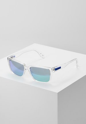 Sunglasses - crystal/blu mirror