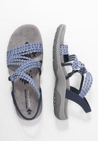 Skechers Wide Fit - REGGAE SLIM - Sandals - navy - 3