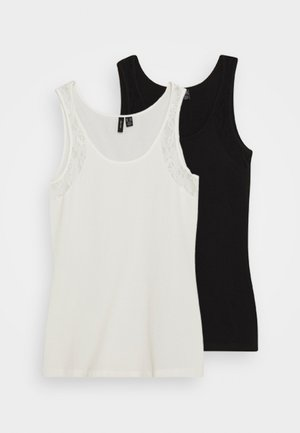 VMMAXI TANK  2 PACK - Top - black/snow white