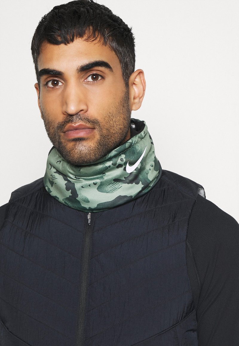 Nike Performance - REVERSIBLE NECK WARMER UNISEX - Snood - black/spiral sage/white