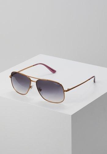 Sunglasses - gold-coloured/purple