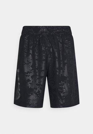 EMBOSS SHORTS - Sports shorts - black