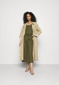 Anna Field - Belted sleeveless wide legs jumpsuit - Jumpsuit - green - 1