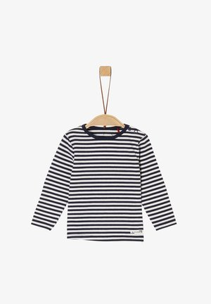 MIT STREIFEN - Long sleeved top - dark blue stripes