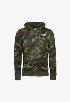 OPEN GATE FULLZIP - Zip-up sweatshirt - thyme brushwood camo print