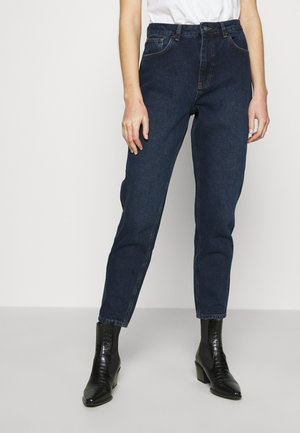 HIGH RISE MOM - Relaxed fit -farkut - dark blue wash
