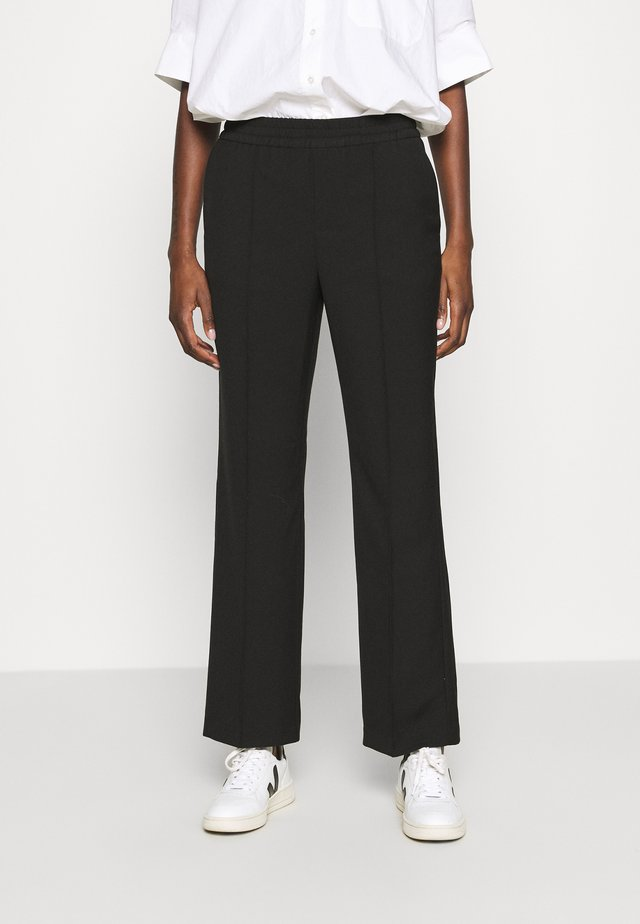 TROUSERS LARA - Tygbyxor - black