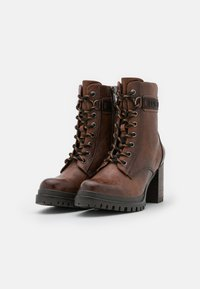 TOM TAILOR - Platform ankle boots - cognac - 2