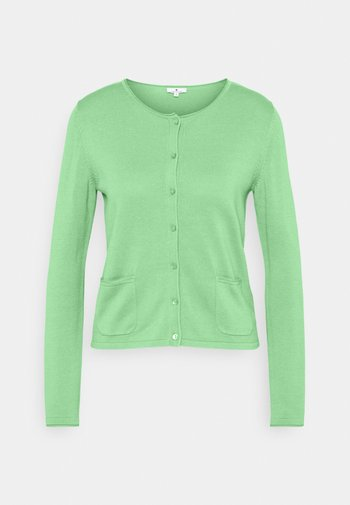 SMALL BUTTONED UP - Cardigan - soft leaf green