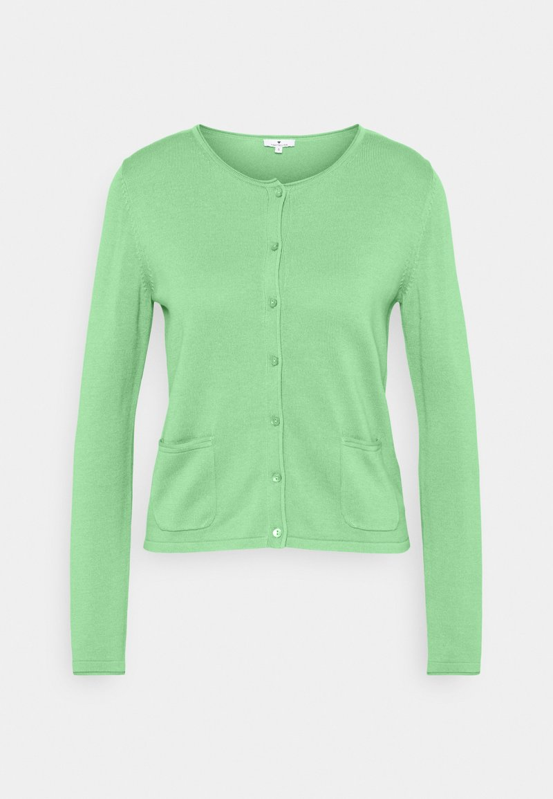 TOM TAILOR - SMALL BUTTONED UP - Cardigan - soft leaf green