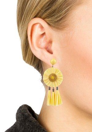 Earrings - yellow