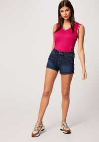 Morgan - WITH LARGE STRAPS AND STRIPS - Top - neon pink - 1