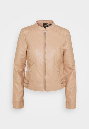 VMLOVE SHORT COATED JACKET - Faux leather jacket - beige