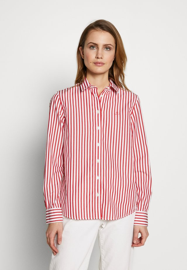 THE BROADCLOTH STRIPED - Button-down blouse - bright red