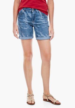 Denim shorts - blue heavy stone w