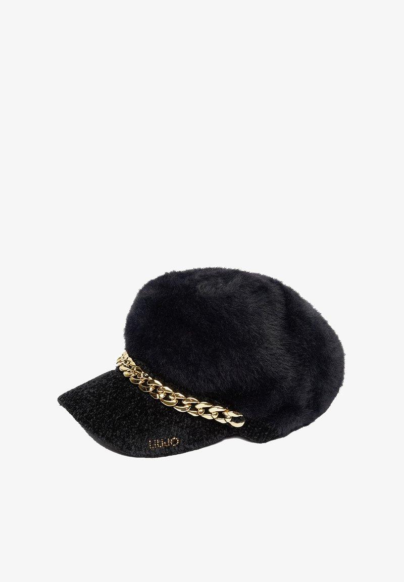 Liu Jo Jeans - SOFT HAT WITH MAXI CHAIN - Czapka z daszkiem - black