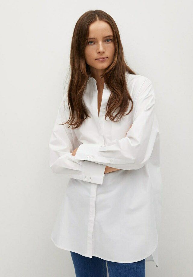 JAMES - Button-down blouse - white