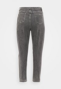 Missguided Plus - WASHED SINGLE THIGH RIP RIOT  - Relaxed fit jeans - black - 1